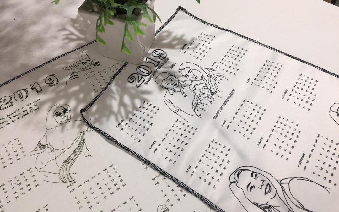 Calendar 2019 ปฏิทินผ้าพิมพ์ลายปี 2019 ส่งต่อความสุขให้กับคนที่คุณรัก !!